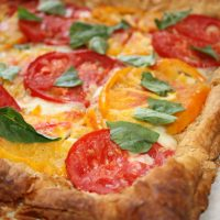 Heirloom Tomato Puff Pastry Pizza