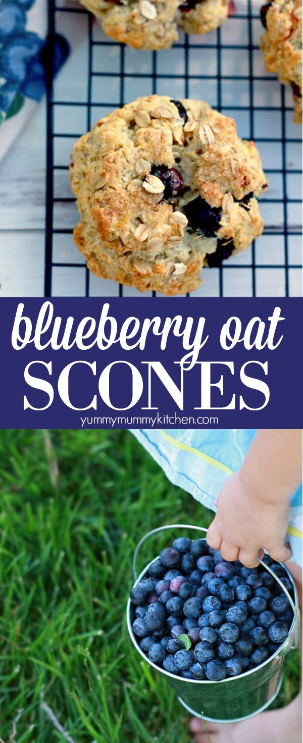 Healthier blueberry oatmeal scone recipe.