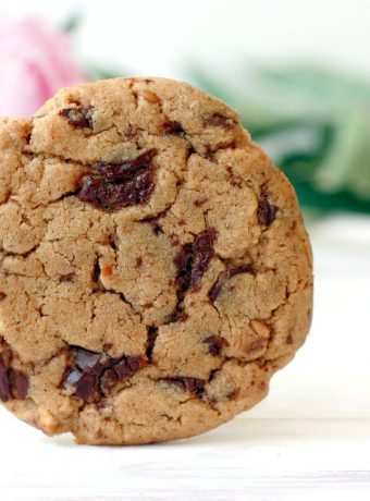 One almond butter chocolate chunk cookie.