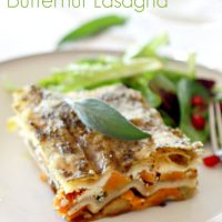 Brussels Sprout and Butternut Squash Vegetarian Lasagna