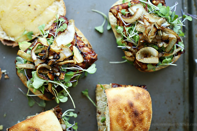 Hearty and protein rich vegetarian tempeh cheeseburgers are a great meatless BBQ idea. These tempeh burgers are easy to make vegan - just omit the cheese or use vegan cheese.
