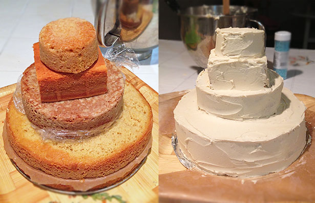 How to Make a Sandcastle Cake