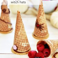 Berry Filled Witch Hat Cones for Halloween