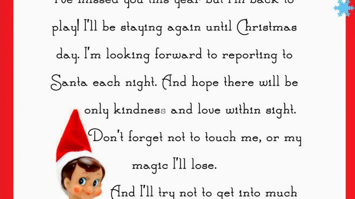 photo regarding Elf on the Shelf Letter Printable identified as Elf upon the Shelf Letter absolutely free printable