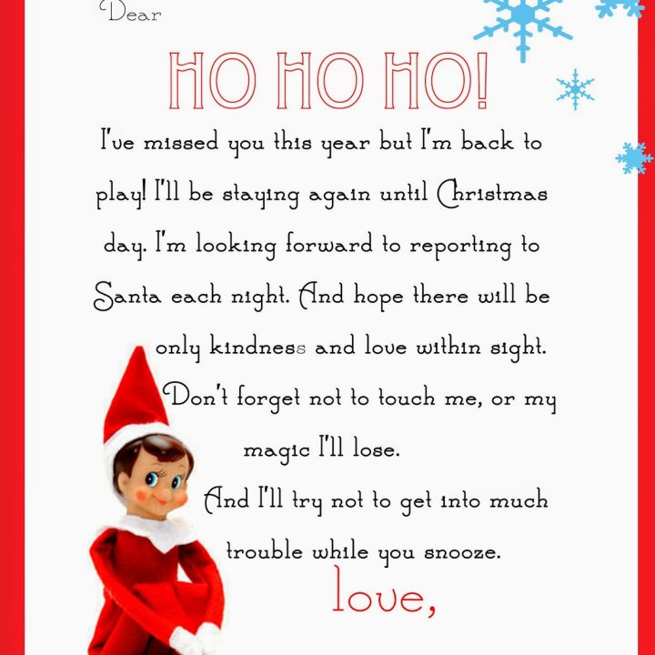 photo relating to Elf on the Shelf Printable referred to as Elf upon the Shelf Letter absolutely free printable