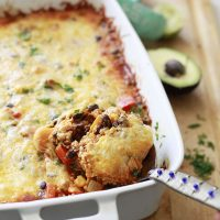 Quinoa Enchilada Bake with Black Beans and Butternut Squash