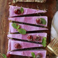Cranberry Vegan Cheesecake