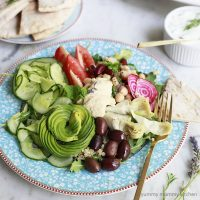 Vegetarian Greek Mezze Bowls