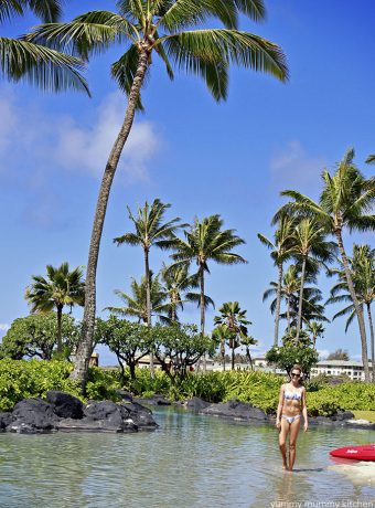 The pool at the Grand Hyatt Kauai.
