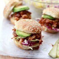 Vegan BBQ Pulled Jackfruit and Bean Sandwiches