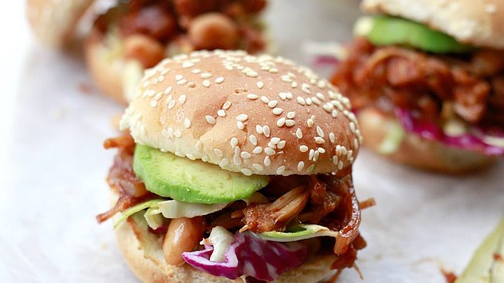 Slow Cooker Pulled Jackfruit Sandwiches