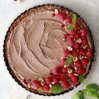 Vegan Chocolate Mousse Pie with Coconut Crust