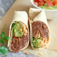 Make Ahead Bean and Rice Burritos