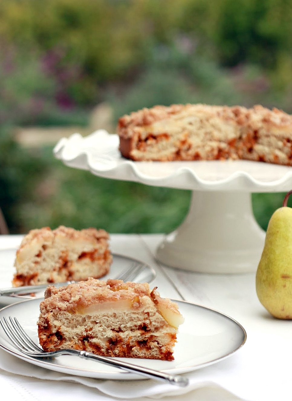 Low Fat Pear And Cinnamon Chip Coffee Cake Yummy Mummy Kitchen