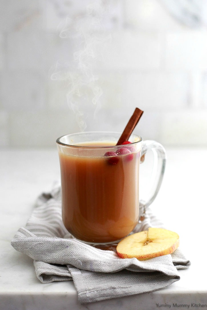Delicious homemade apple cider made in the slow cooker or on the stove. Serve this homemade apple cider hot or cold.