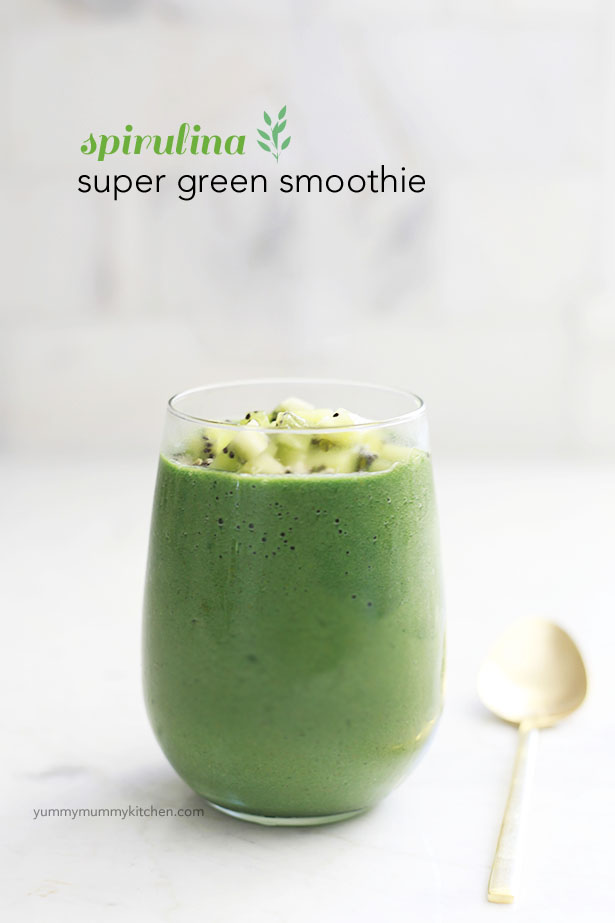 A spirulina superfood smoothie recipe.