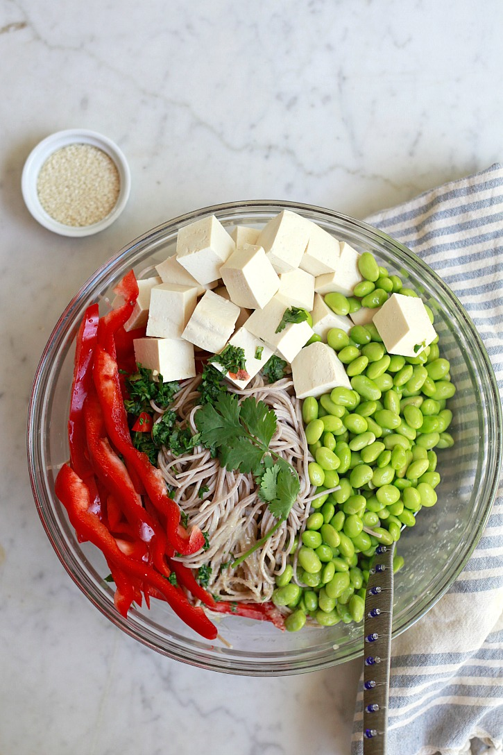 Cold Soba Noodles recipe from Weelicious