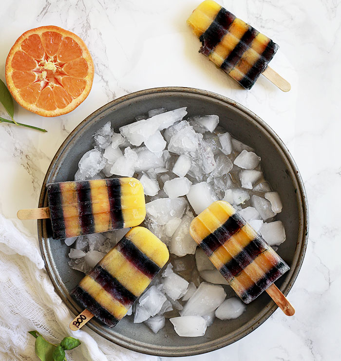 Natural Halloween Ice Pops