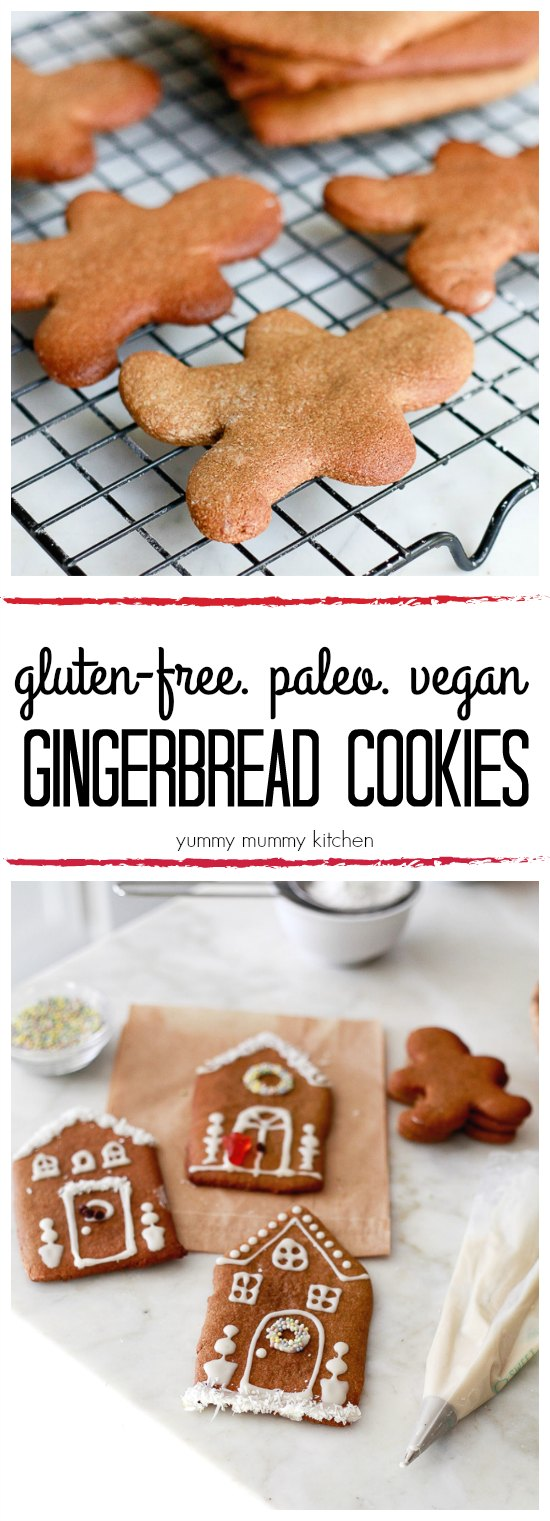 This easy gingerbread cookie recipe is made with natural ingredients like almond flour, maple syrup, and coconut oil. These delicious gingerbread cookies are vegan, paleo, and gluten-free!