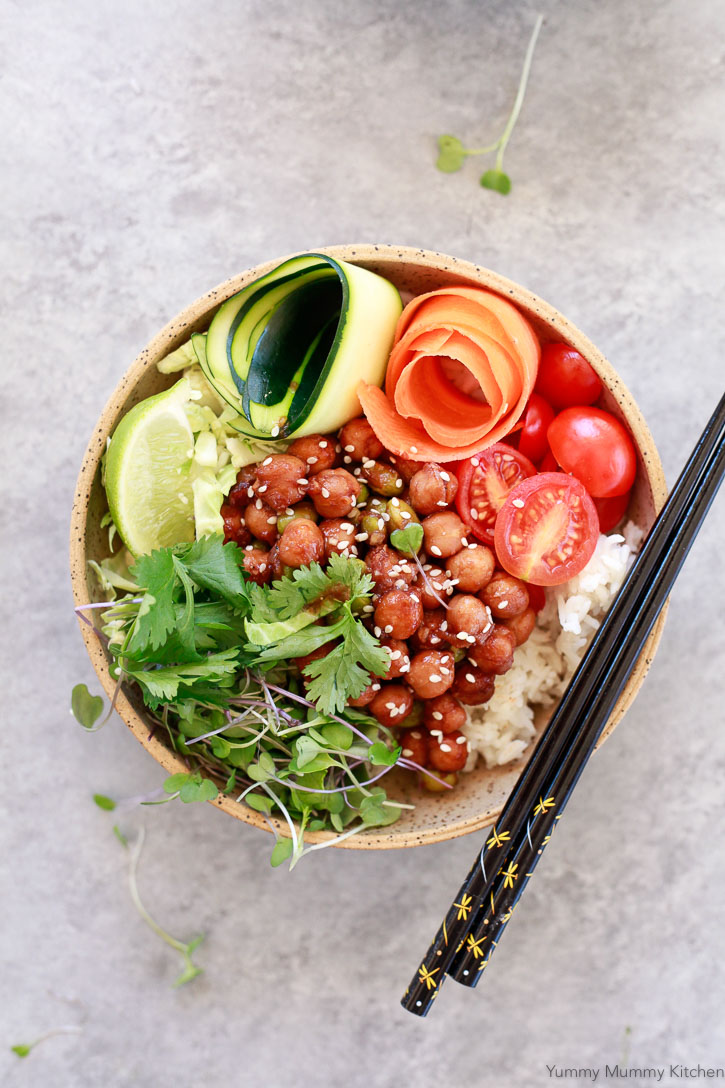 f you love Korean BBQ, I think you'll love this plant-based bento bowl version. Perfect for lunches and kid friendly dinners, this veggie dish is rich in protein, fiber and plant-based iron.