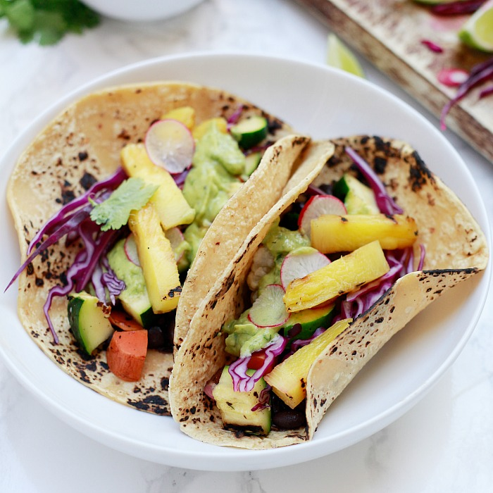 Yummy Mummy Kitchen: Grilled Vegetable Tacos With Avocado Cream