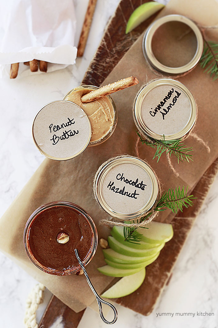 nut butters for a homemade edible gift idea