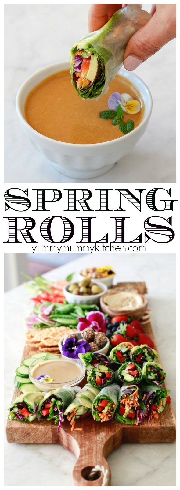Find out how to make fresh spring rolls with this easy recipe. These vegan spring rolls with peanut sauce are so delicious!