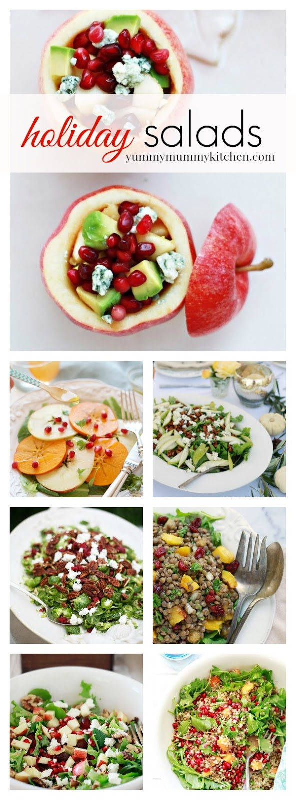 Fall and winter salad recipes perfect for Thanksgiving and Christmas