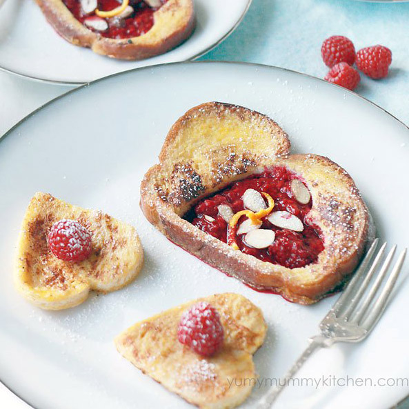 French toast with stewed berries makes a healthier breakfast