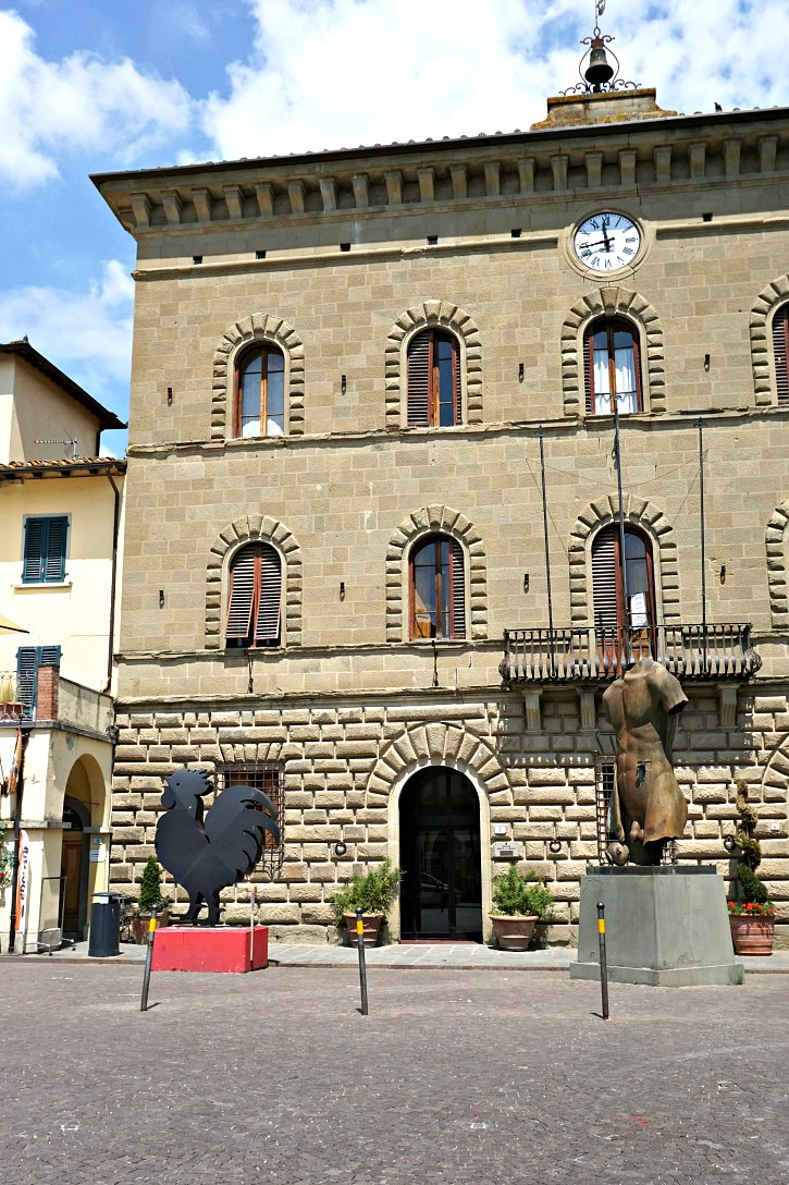 The town center of Greve in Chianti, Tuscany, Italy.