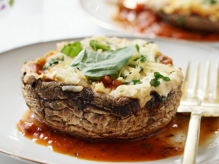 Lasagna Stuffed Portobello Mushrooms