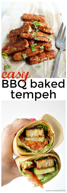 This BBQ tempeh is perfect for plant based vegan sandwiches, wraps, salads and more.