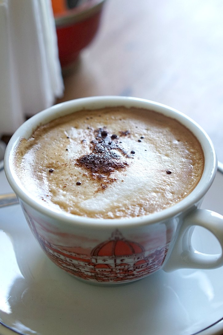 A perfect Florence Italy cappuccino!