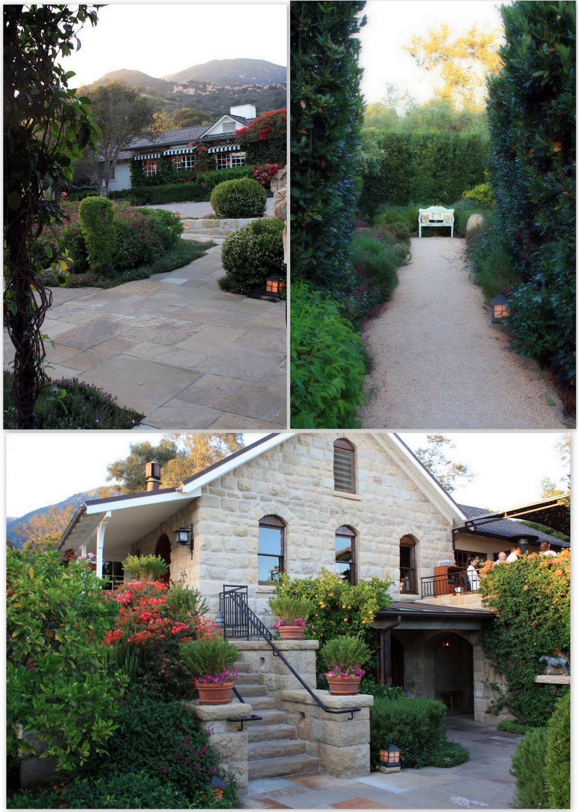 The beautiful Stonehouse restaurant at San Ysidro Ranch in Montecito, California.