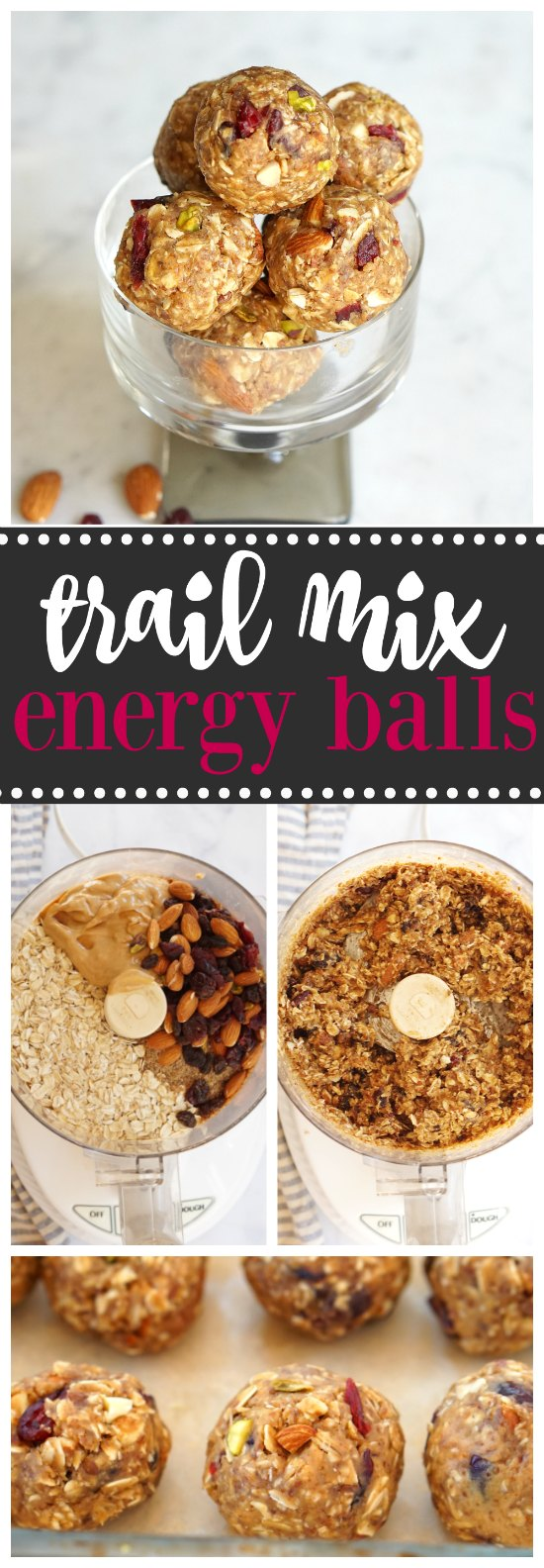 These no-bake trail mix peanut butter energy balls are easy to make and absolutely delicious!