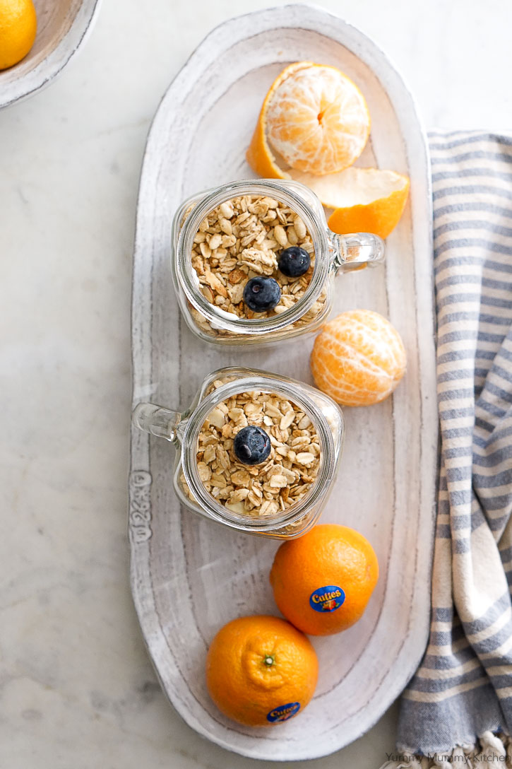 Kids and adults both love these granola, fruit, yogurt, and smoothie parfaits.