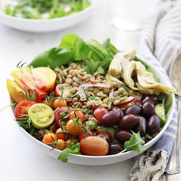 Lentil Salad with Tomatoes