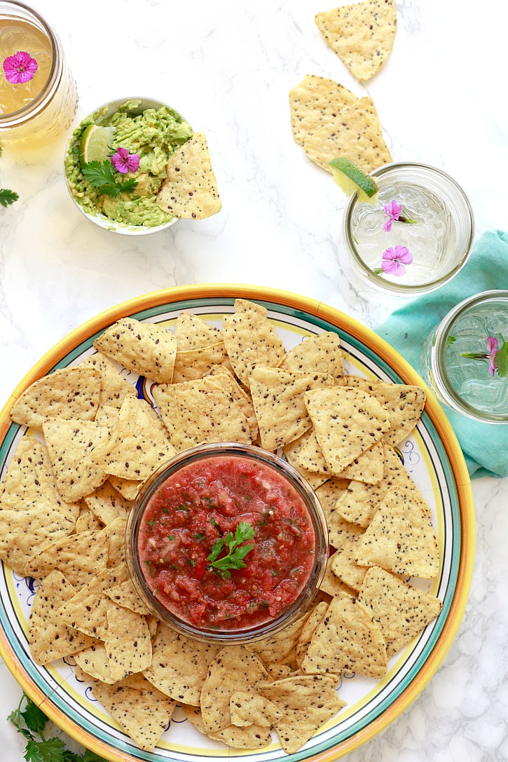 This easy blender salsa recipe is made with fresh tomatoes.