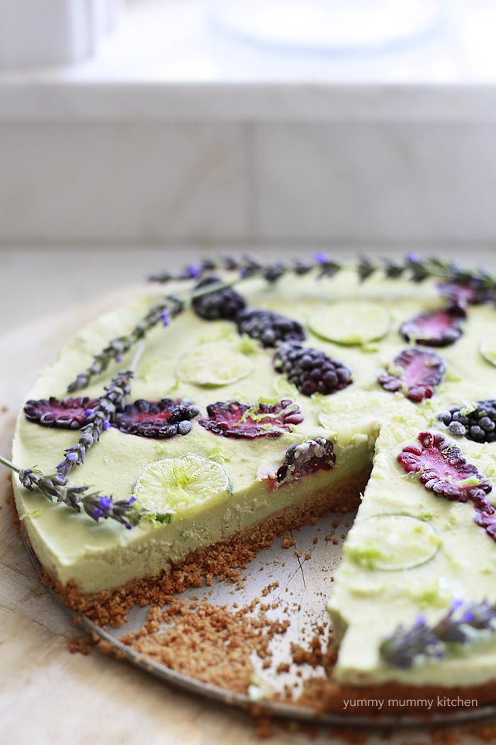 healthy vegan key lime pie
