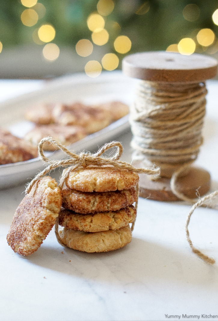 Vegan, Gluten Free, Almond Flour Snickerdoodles