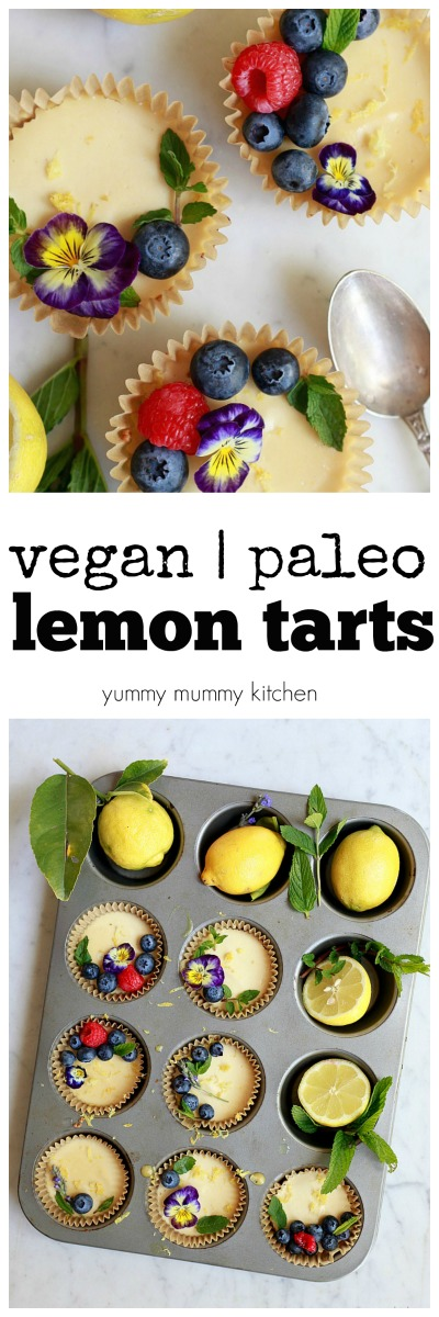 Easy vegan and paleo lemon tarts