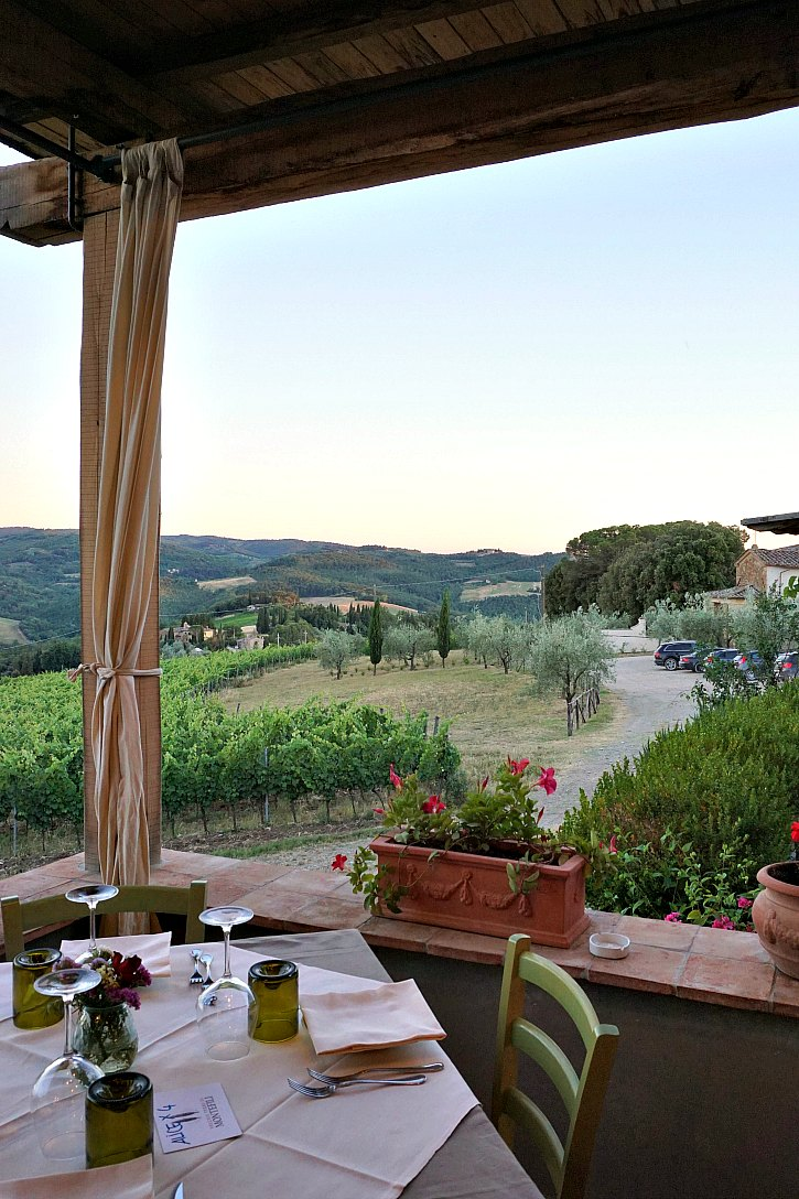 La Cantinetta di Rignana is a beautiful restaurant set in the Tuscan hills near Montefioralle in the Chianti region.