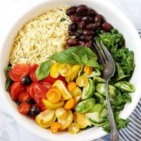 Kale, Heirloom Tomato, and Orzo Salad