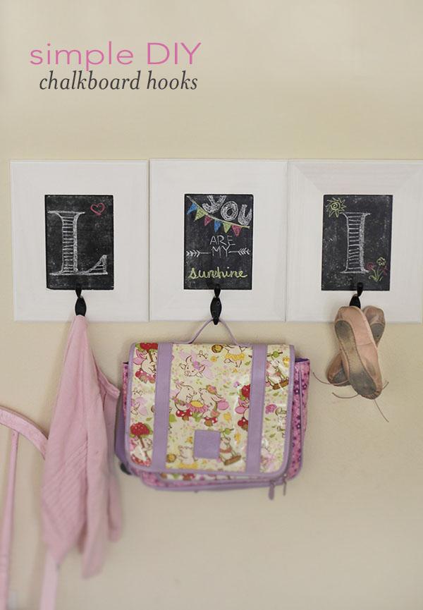 How to Make Framed Chalkboard Hooks - Yummy Mummy Kitchen