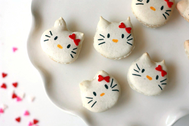 Hello Kitty French Macarons! - Yummy Mummy Kitchen