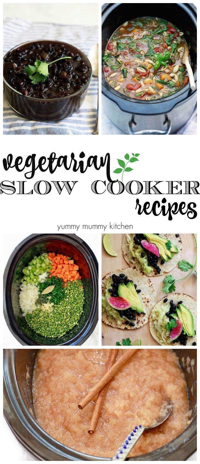 vegan and vegetarian slow cooker crockpot recipes