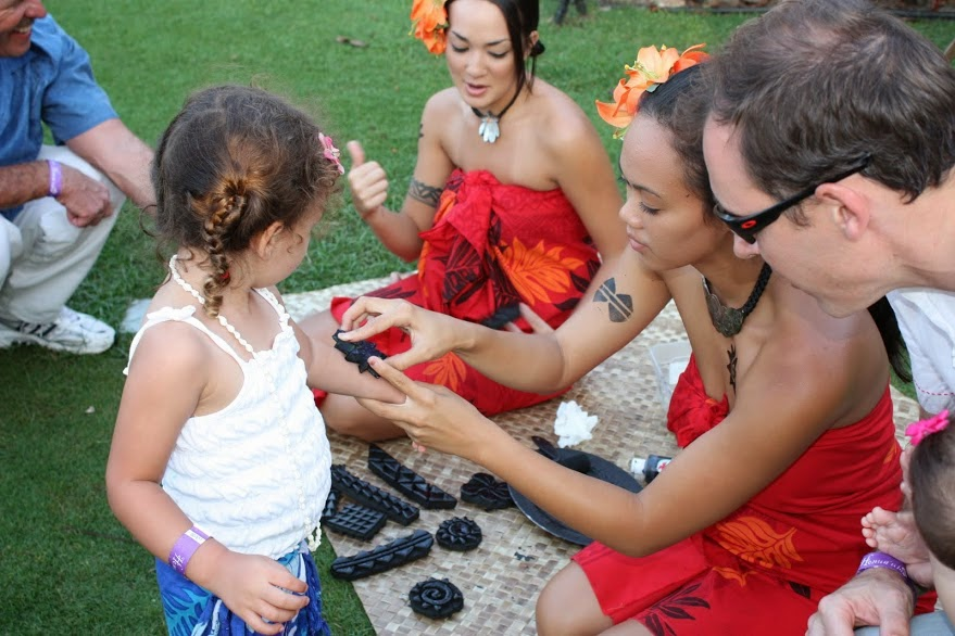 Little girl at a Wailea Maui luau