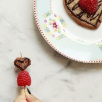 Vegan Raspberry Sugar Cookie Skewers
