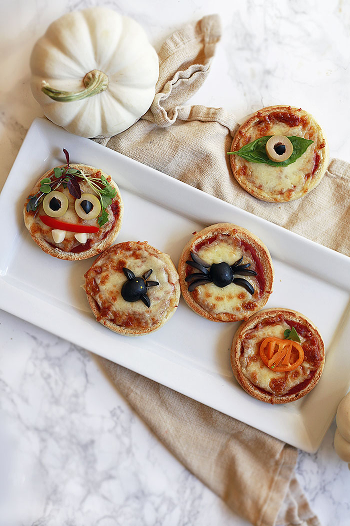 Halloween English Muffin Pizza