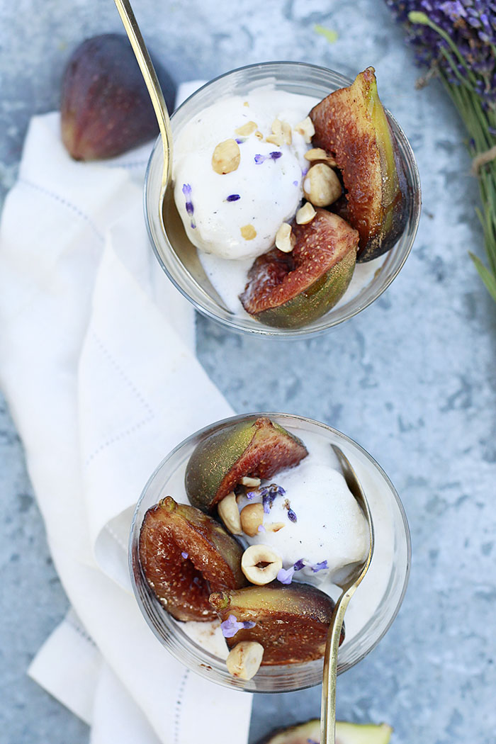 fresh figs and ice cream